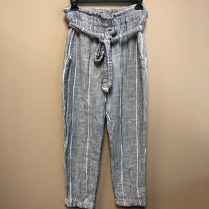Free People gray cropped jogger sweat pant 6